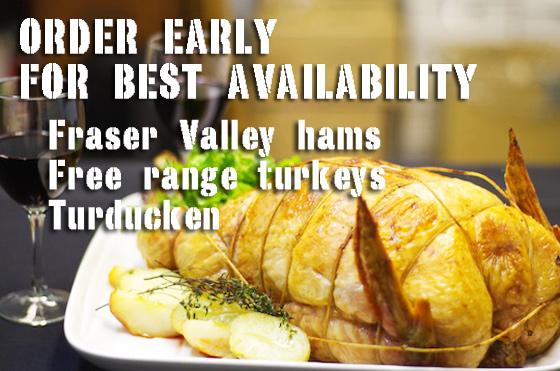 thanksgiving hams, turkeys